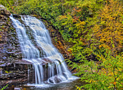 Swallow Falls State Park Art - Muddy Creek Waterfall in Autumn by Shawn Bennaman