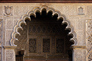 Patio Prints - Mudejar Style Arch in Alcazar Palace of Seville Print by Artur Bogacki