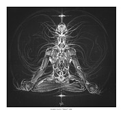 Visionary Art Drawings - Mudra by Natanel Araeha