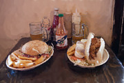 Fries Photo Posters - Muffaletta and Po-Boy Poster by Kay Pickens