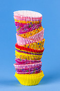 Stacks Photos - Muffin cups by Elena Elisseeva