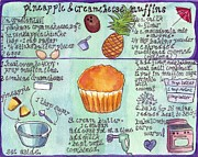 Muffin Illustrated Recipe Print by Johanna Pabst