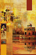 Royal Art Painting Posters - Mughal Art Poster by Catf