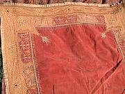 Indian Tapestries - Textiles - Mughal tapestry with gold filament hand embroidery by Indian tapestry artist