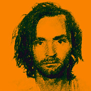 Charles Digital Art - Mugshot Charles Manson p0 by Wingsdomain Art and Photography