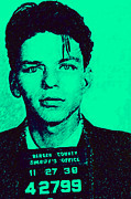 Mob Digital Art Prints - Mugshot Frank Sinatra v1m128 Print by Wingsdomain Art and Photography