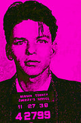 Las Vegas Artist Prints - Mugshot Frank Sinatra v1m80 Print by Wingsdomain Art and Photography