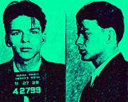 Sinatra Art Posters - Mugshot Frank Sinatra v2p128 Poster by Wingsdomain Art and Photography