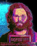 Mugshot Jim Morrison 20130329 Print by Wingsdomain Art and Photography