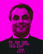 Mobsters Posters - Mugshot John Gotti m88 Poster by Wingsdomain Art and Photography