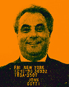 Bloody Digital Art - Mugshot John Gotti p0 by Wingsdomain Art and Photography