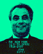 Celebrity Digital Art Prints - Mugshot John Gotti p128 Print by Wingsdomain Art and Photography
