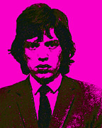 Americans Digital Art Posters - Mugshot Mick Jagger m80 Poster by Wingsdomain Art and Photography