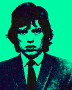 Americans Digital Art Posters - Mugshot Mick Jagger p128 Poster by Wingsdomain Art and Photography