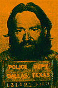 Singers Posters - Mugshot Willie Nelson p0 Poster by Wingsdomain Art and Photography