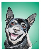 Animal Shelter Mixed Media - Mugsy - a former shelter sweetie by Dave Anderson