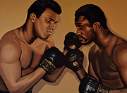 Muhammad Ali And Joe Frazier Print by Paul Meijering