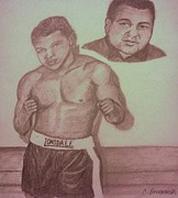 Boxer Drawings Posters - Muhammad Ali Poster by Christy Brammer