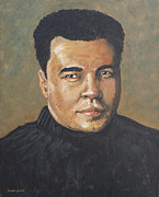 Boxer Paintings - Muhammad Ali by Dwayne Glapion