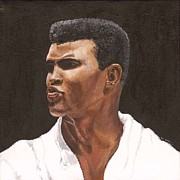 Sports Art Paintings - Muhammad Ali by Jeff Gomez