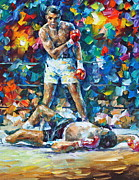 Palette Knife Painting Originals - Muhammad Ali by Leonid Afremov