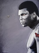 Muhammad Paintings - Muhammad Ali by Mark Baker