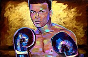 Boxer Paintings - Muhammad Ali by Robert Phelps