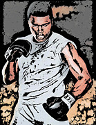 Heavyweight Digital Art Prints - Muhammad Ali Print by Tanysha Bennett-Wilson