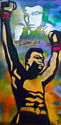 Ali Painting Originals - Muhammad Ali by Tony B Conscious