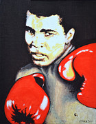 Cassius Clay Paintings - Muhammad Ali by Victor Minca
