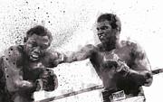 Muhammad Ali Vs Joe Frazier Print by Daniel Hagerman