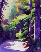 Pathway Painting Metal Prints - Muir Woods Metal Print by Robert Hooper