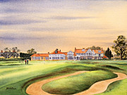 Honourable Framed Prints - Muirfield 18Th and Clubhouse Framed Print by Bill Holkham