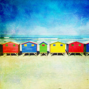 Beach Huts Framed Prints - Muizneberg Beach Huts Framed Print by Neil Overy