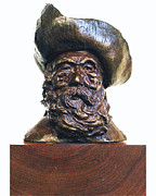 Beard Sculpture Prints - Mule Skinner Print by Herb Conrad