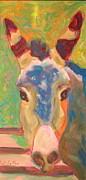 Posters On Paintings - Mule with color by Jodie  Scheller
