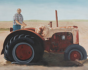 Becky Paintings - Mullocks tractor by Becky West