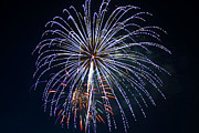 4th Of July Fireworks 12 Print by Howard Tenke