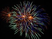 4th Of July Fireworks 22 Print by Howard Tenke