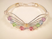 Sterling Silver Art - Multi Butterfly Bracelet by Holly Chapman