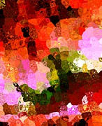 Ornamental Digital Art - Multi Color Abstract Art of Spots by Mario  Perez