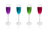 Wine Glasses Prints - Multi Color Simplicity Print by Erik Brede