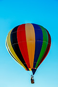 Balloon Aircraft Prints - Multi Striped Hot Air  Balloon Print by Robert Bales