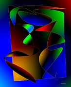 Multi Color Posters - Multicolor Abstract Art Poster by Mario  Perez