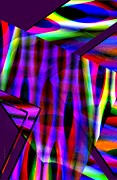 Line Metal Prints - Multicolor Geometric Lines Art Metal Print by Mario  Perez