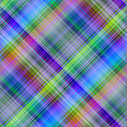 Graduated Background Framed Prints - Multicolored diagonal grid pattern abstract Framed Print by Stephen Rees