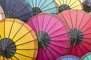 Handcrafted Art - Multicoloured hand made paper umbrellas or parasols on display a by Stefano Baldini