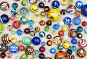 Multicoloured Marbles Print by Tim Gainey