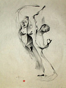 Beauty Mark Drawings - Multiple Image Gesture by John Arthur Ligda