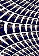 Tardis Digital Art Prints - Multiple Tardis  Print by David Rogers